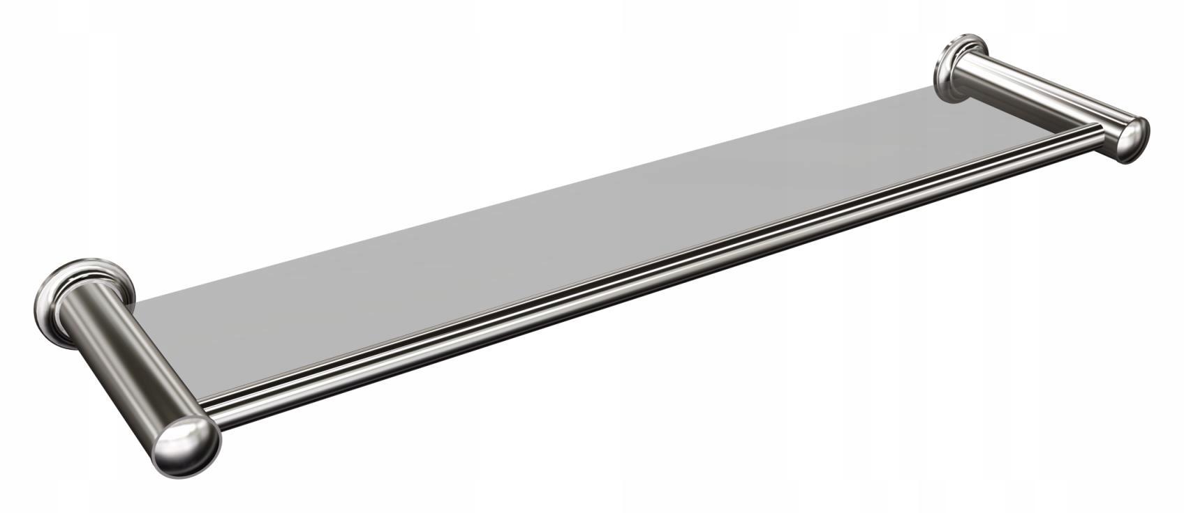 Sklenená polička do kúpeľne pod zrkadlo, závesná 60 cm