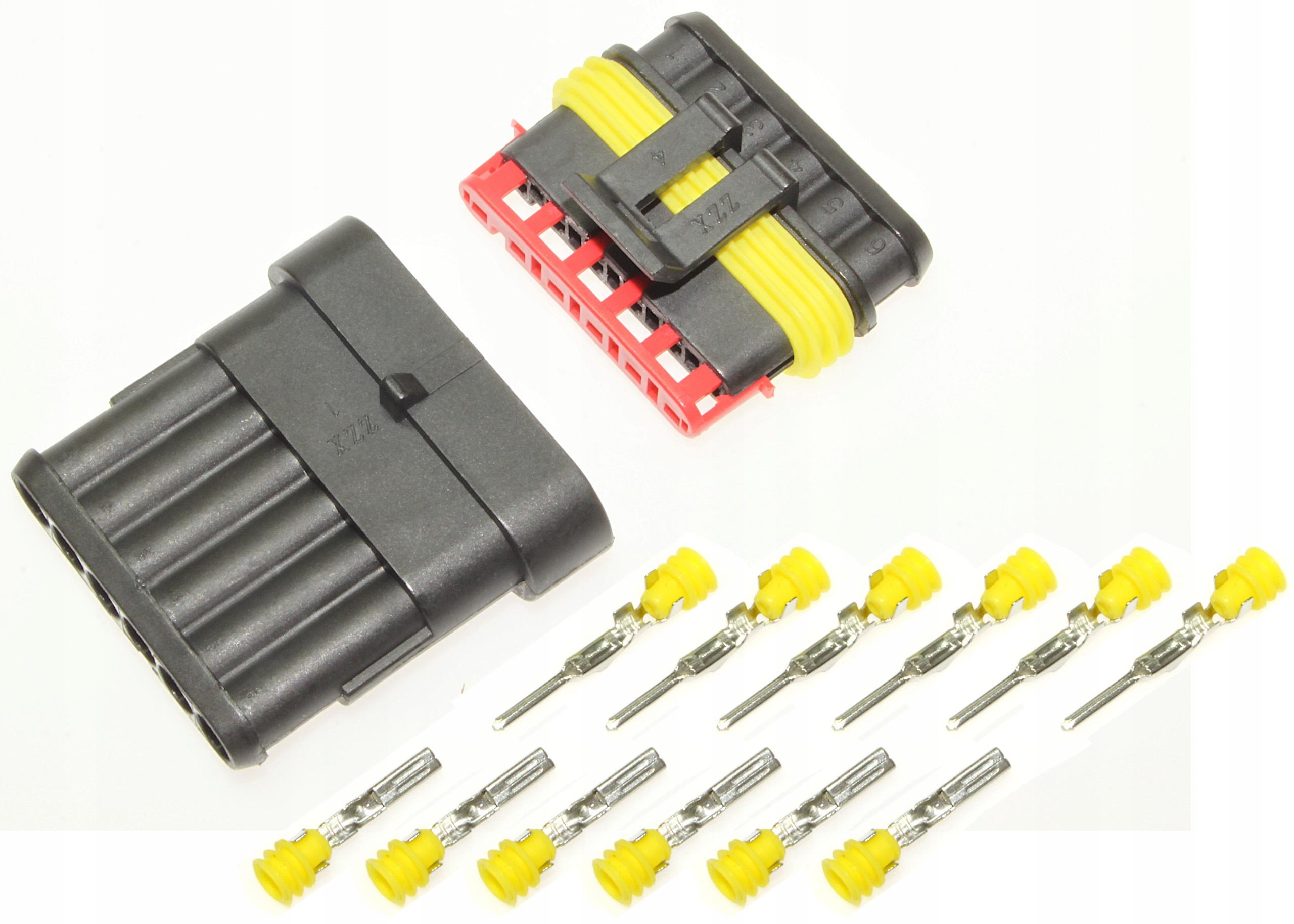разъем герметичные superseal кубик разъем 6 pin
