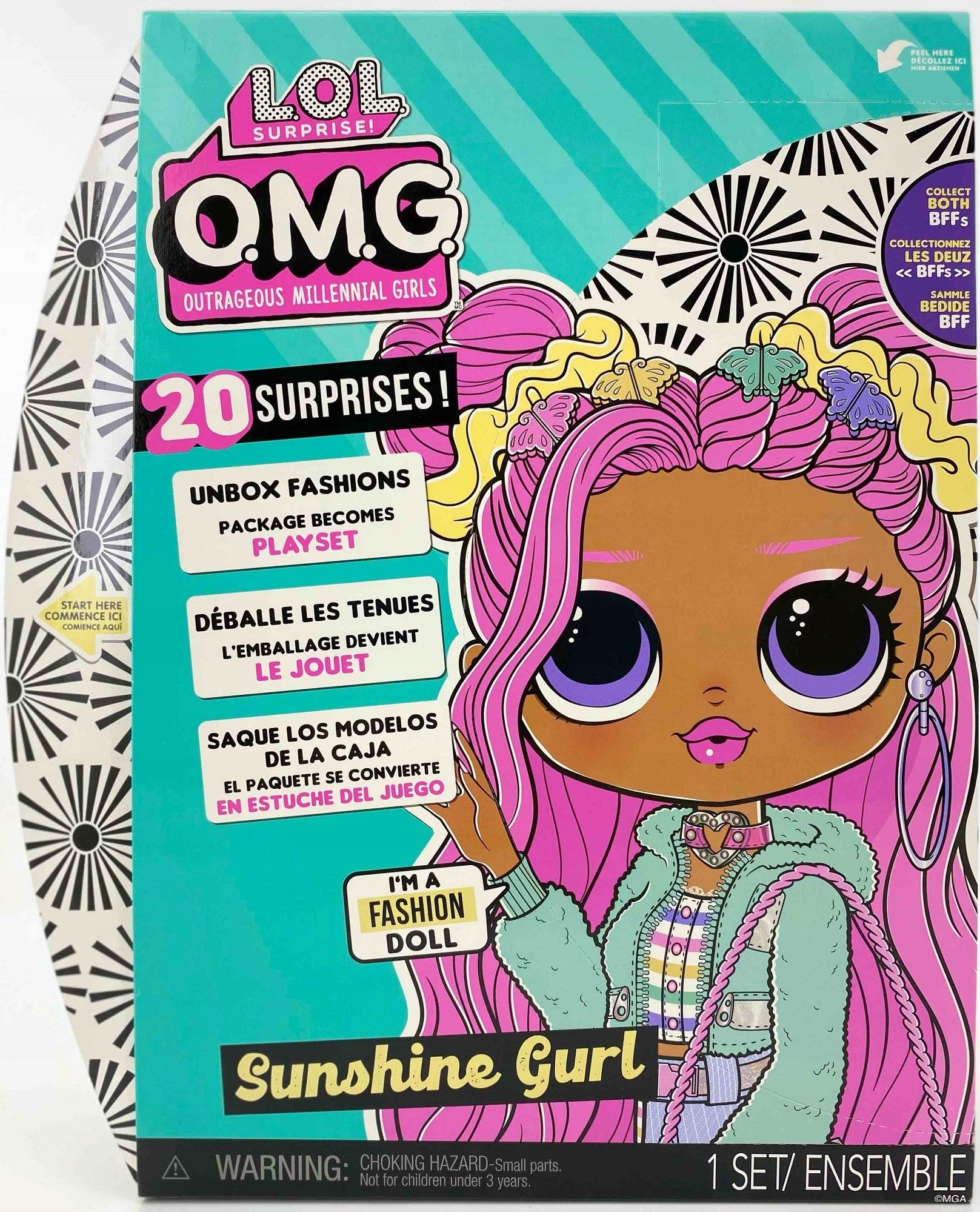LOL SUPRISE OMG seria 5 - SUNSHINE GIRL + UBRANKA Kolor dominujący wielokolorowy