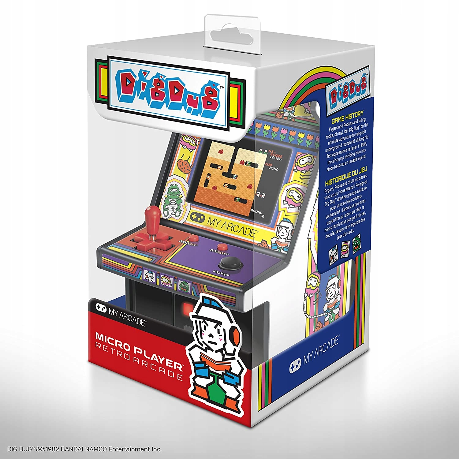 ARCAD GAME Micro Player Retro DIG Dug CONSOLE