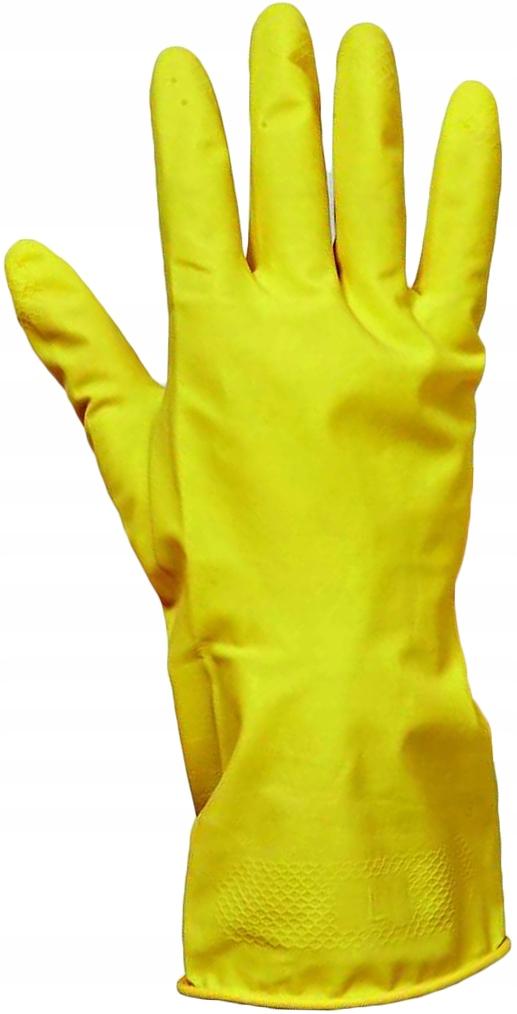 Rękawice gumowe gospodarcze źółte rozmiar: L