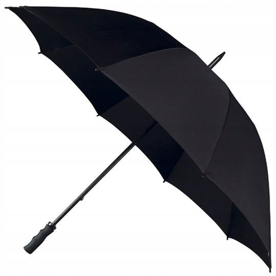 Veľký odolný holandský čierny dáždnik