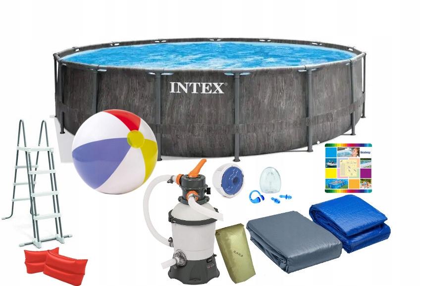 INTEX 26742 14w1 BASEN 457x122cm POMPA PIASKOWA