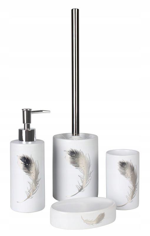 Kúpeľňová súprava Piume biela 4 prvky