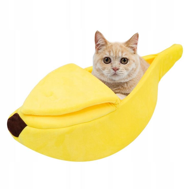 Śliczny banan legowisko dla zwierząt-L