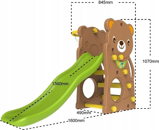 Ihrisko SWING SLIDE 3v1 Teddy Bear Bear Mark Lean