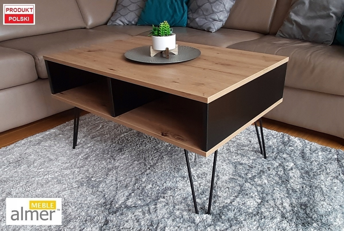 Ретро журнальный столик K2 Журнальный столик, стиль лофт, ремесленный дуб