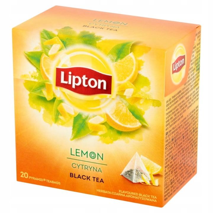 Lipton Black Lemon Tea Lemon 20 пирамидок