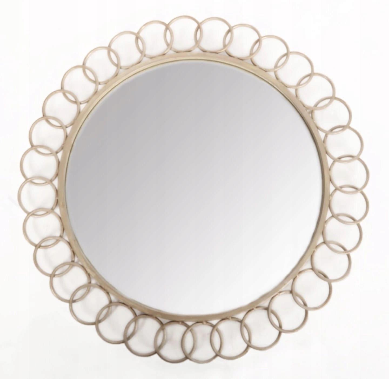 okrúhle zrkadlo na kúpeľňa striebro retro antyki24