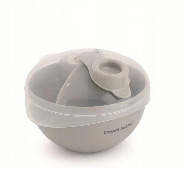 Kapacita pre mlieko prášok Canpol Babies Grey