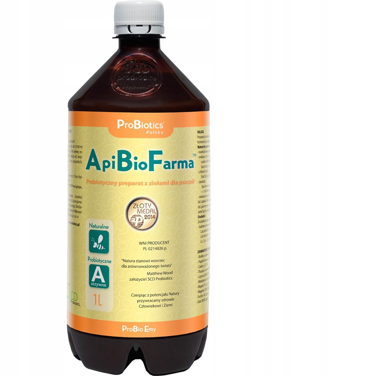 SUPER Probiotyk WZMACNIA pszczoły - ApiBioFarma 1L