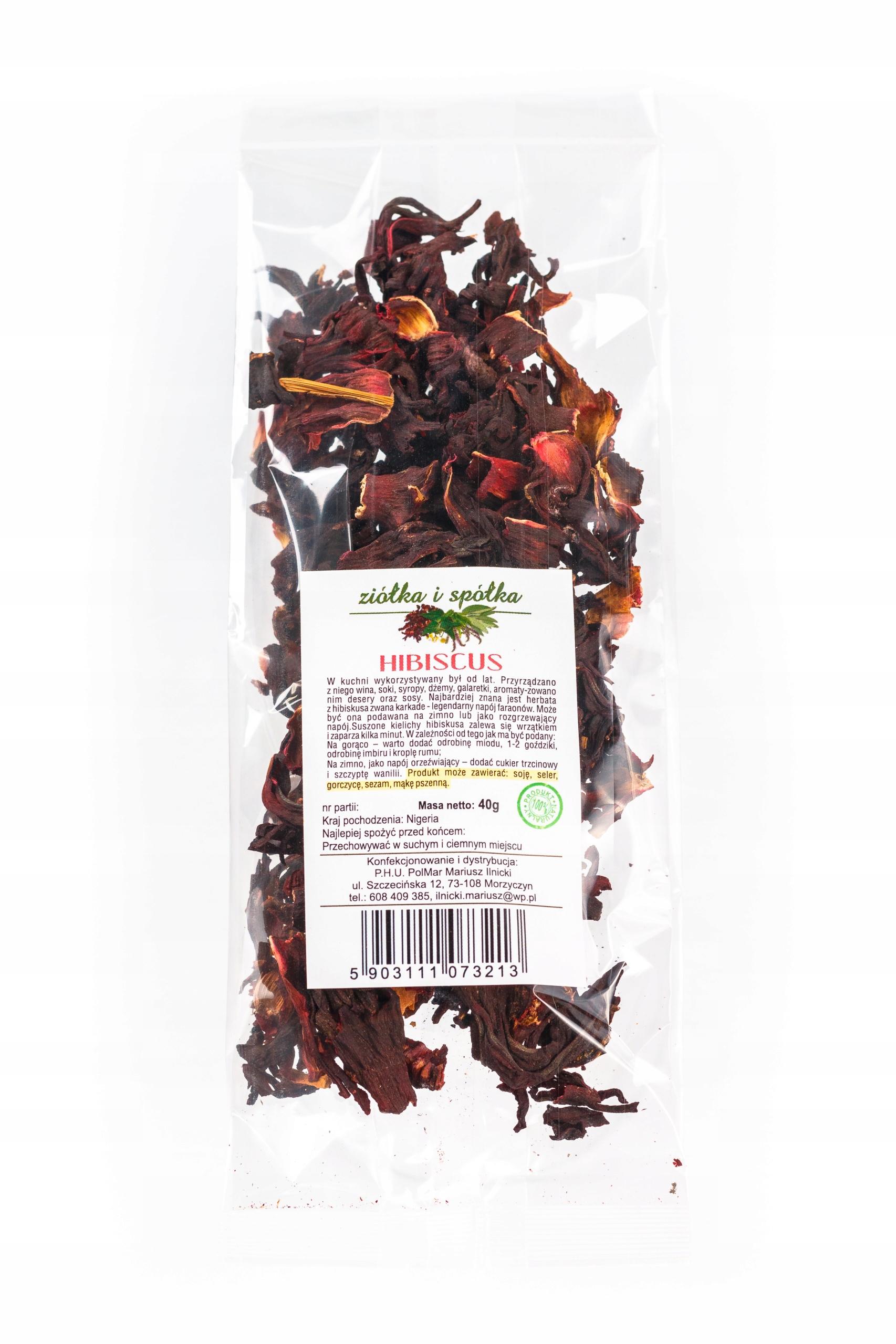 hibiskus do herbaty naturalny 40g