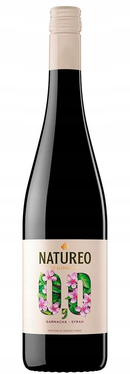 Испанское красное безалкогольное вино Natureo