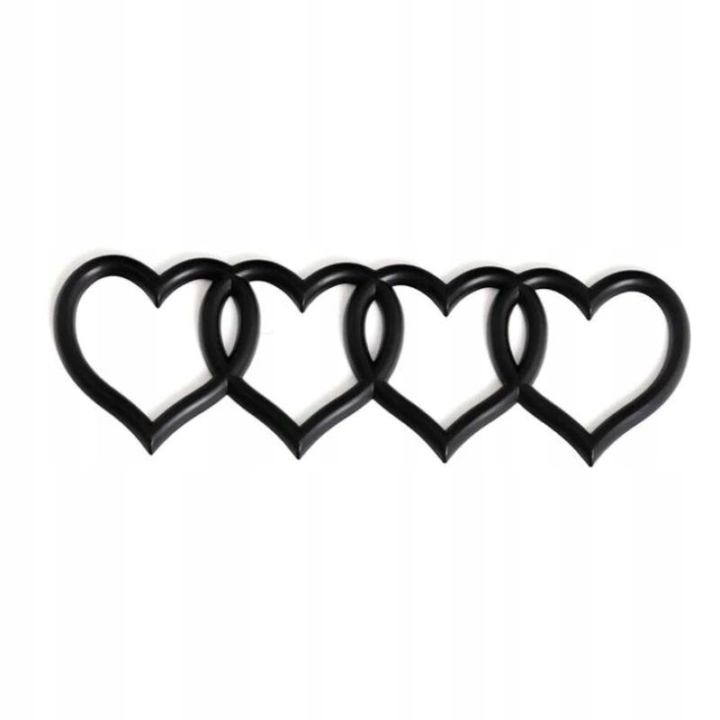 значок сердца эмблемы audi - Ярко-черный