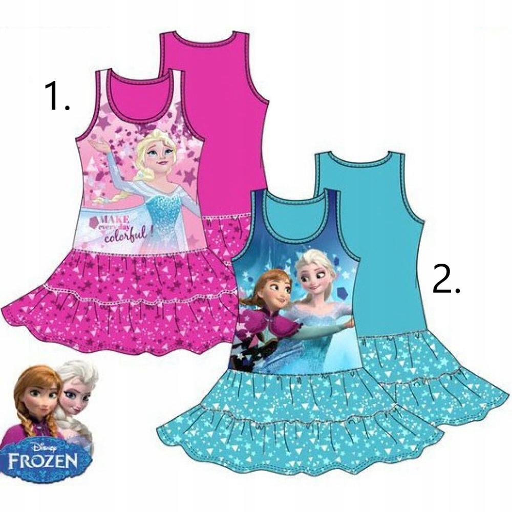 Zmrazené 128 modré šaty Elsa