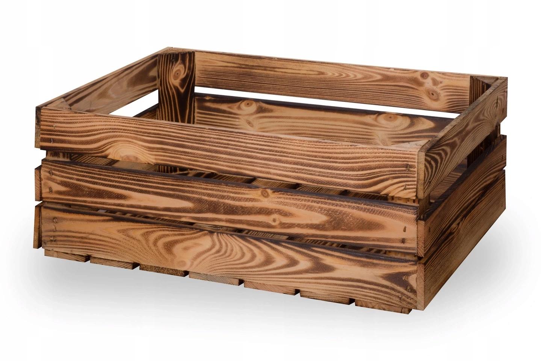 Ящики деревянные обожженные, ящик 60х40х20