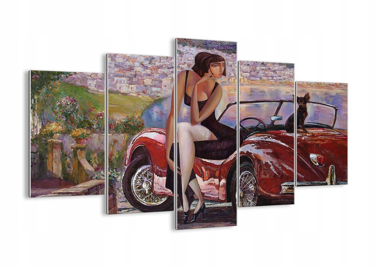 Vzor sklo retro žena pocit GEA150x100-3468