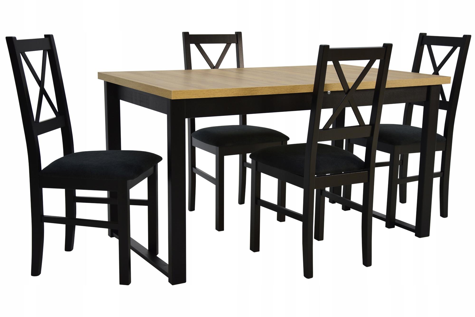 4 stoličky + skladací stôl pre kuchyne LOFT