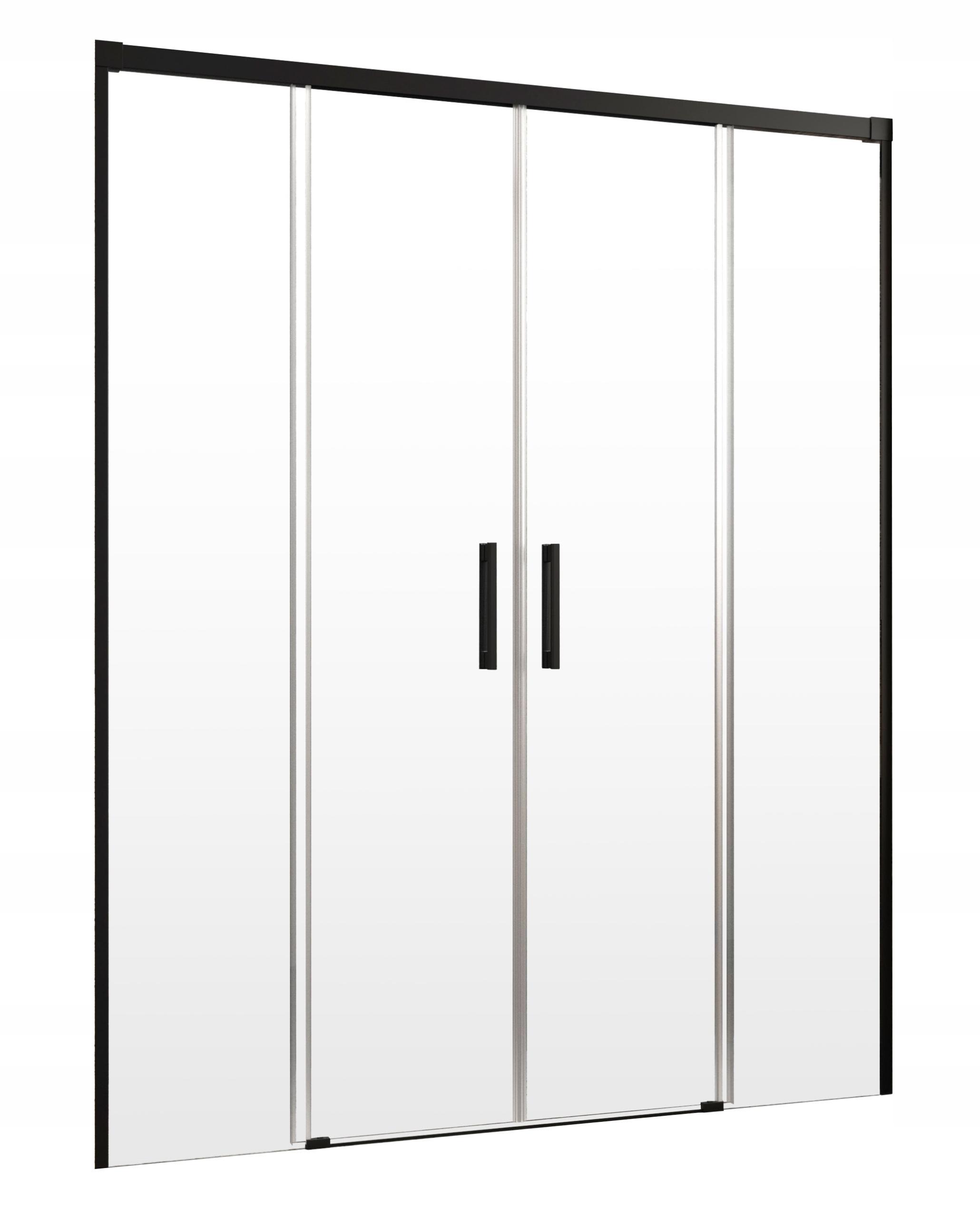 Idea Black DWD sprchové dvere RADAWAY 140x200,5