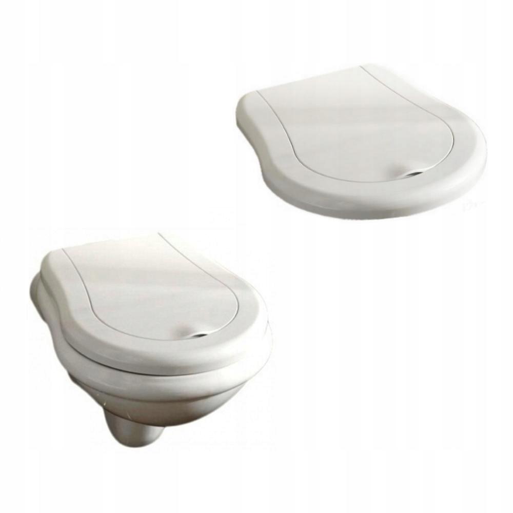 WC súprava Kerasan Retro, závesná, so sedadlom 52 cm