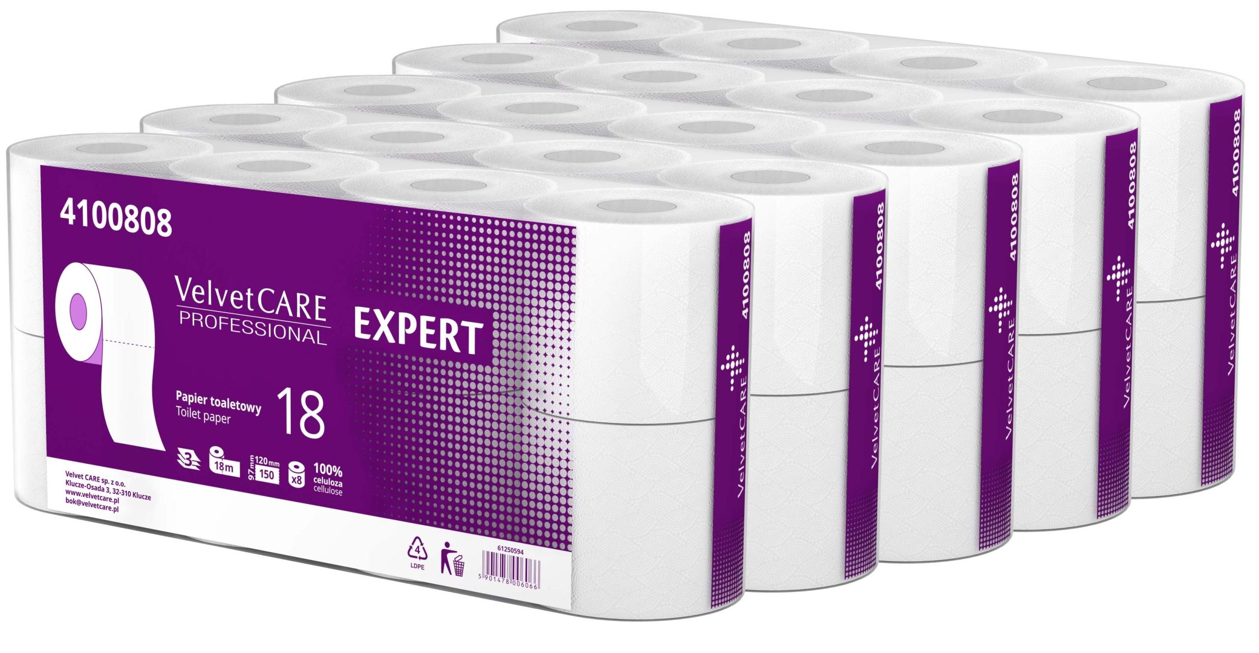 Бархат CARE EXPERT Туалетная бумага 40 Rolls WHITE