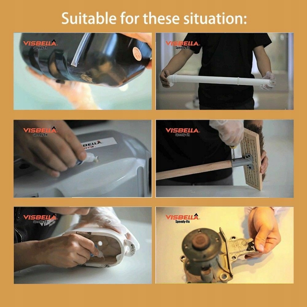 Visbella zestaw Speedy Fix 7 sekundowy klej mocny Pojemność opakowania 40 ml