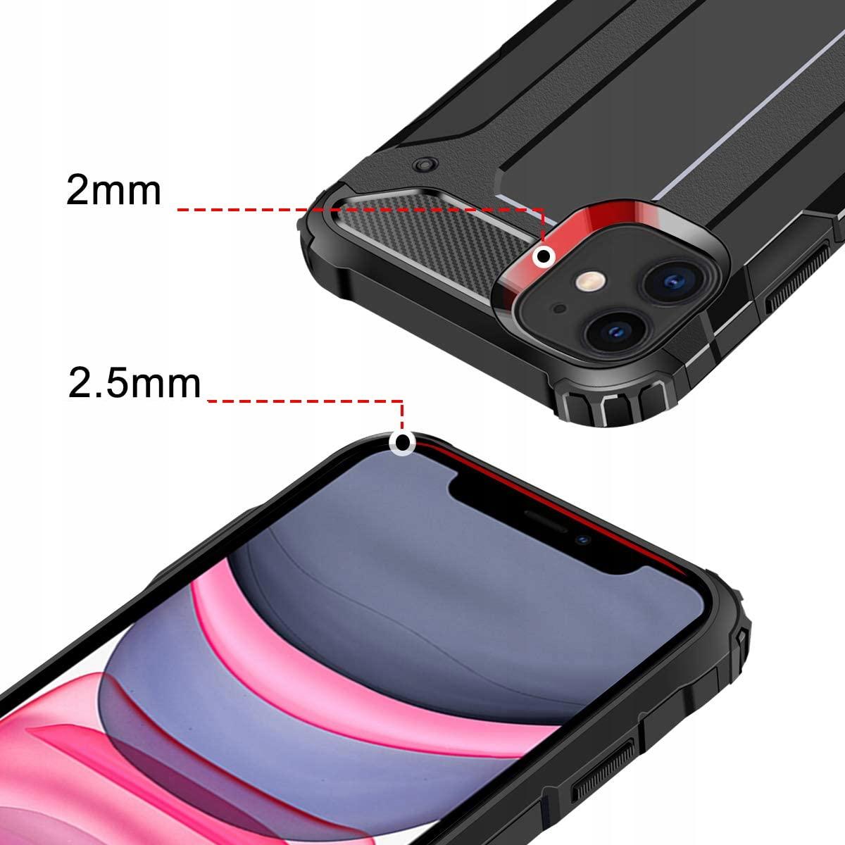ETUI do iPhone 12 PANCERNE ARMOR + SZKŁO 9H Dedykowany model iPhone 12