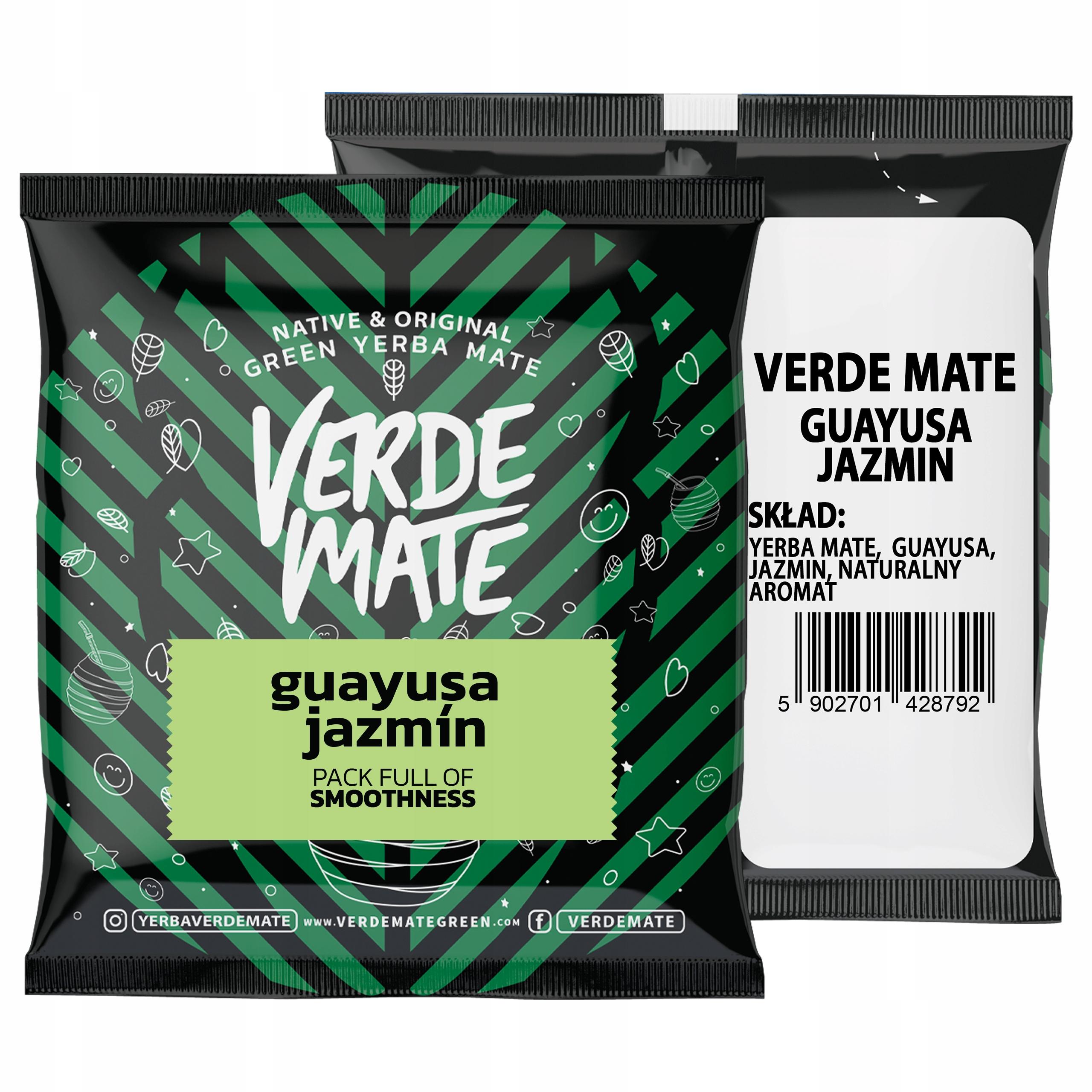 Yerba Verde Mate Green Guayusa Jazmín 50g próbka