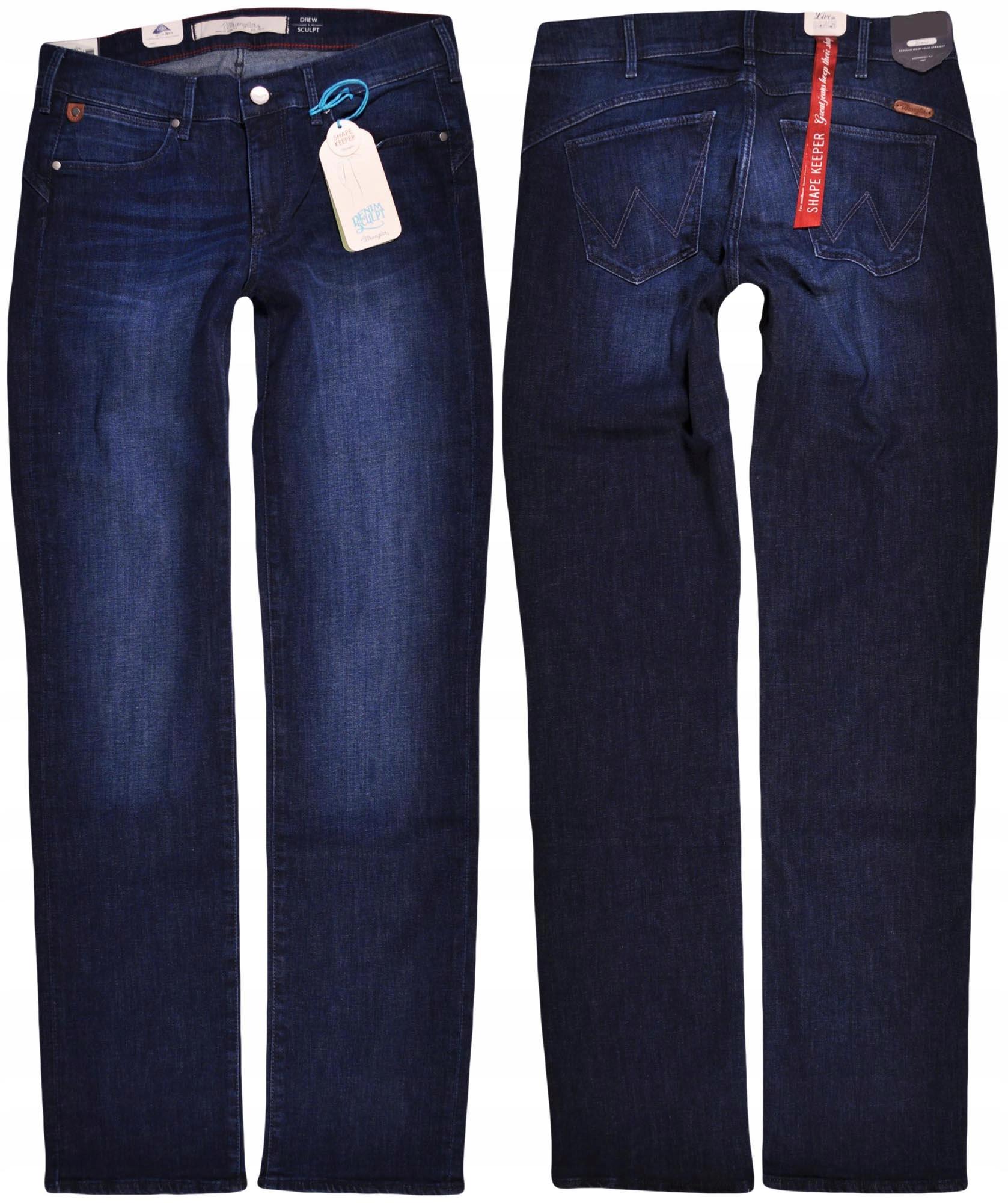 Wrangler spodnie Straight regular Drew _ W28 L32