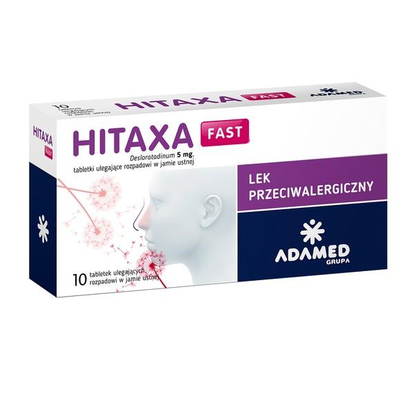 Hitaxa Fast 10tabl. alergia katar pokrzywka