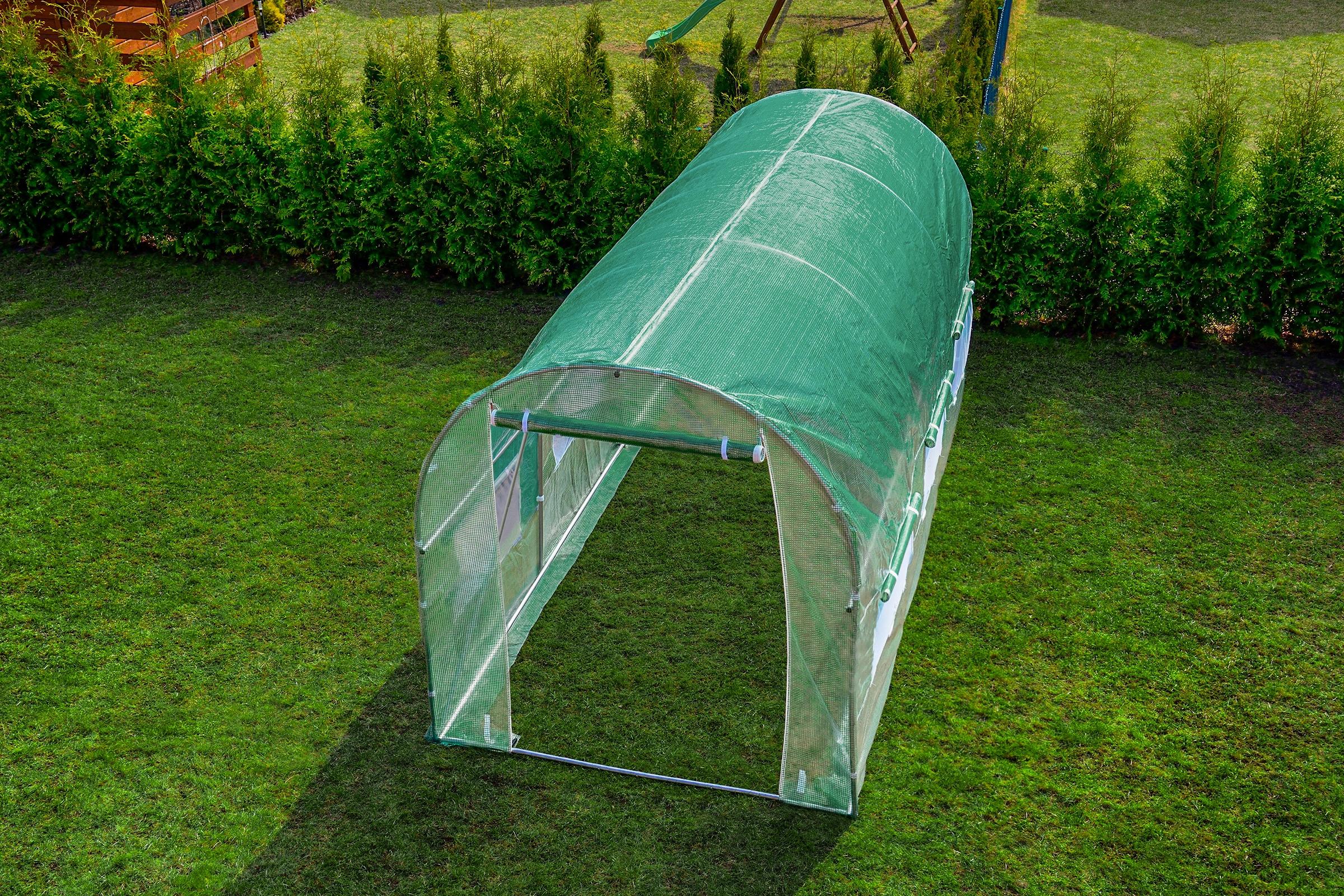 FÓLIOVÝ TUNEL 7m2 ZAHRADA GREENHOUSE 3,5x2m UV-4 Hmotnosť produktu s jednotkovým balením 22 kg