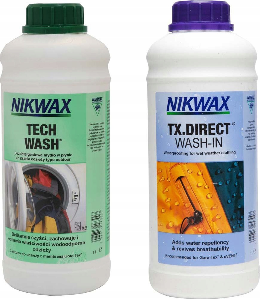Nikwax Tech Wash + TX Direct 2x1L Жидкость + пропитка