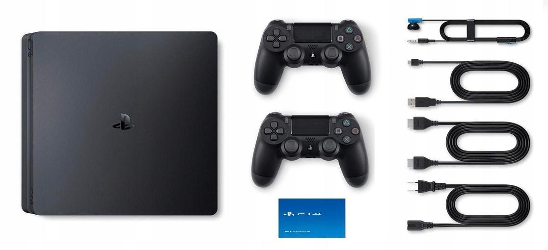 SONY PLAYSTATION 4 PS4 SLIM CONSOLE 2x Pad 500GB Ширина продукта 26,5 см