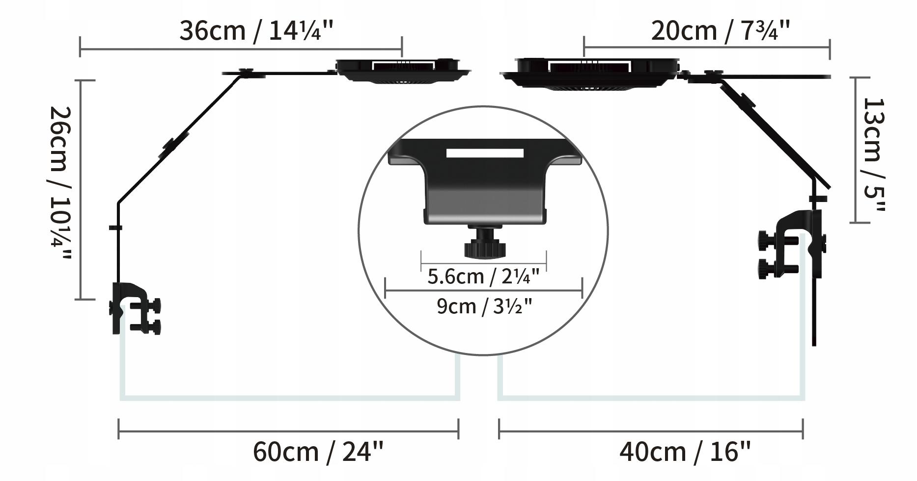 Maxspect Jump Light LED MJ-L165 lampa Syna-G Cloud Waga (z opakowaniem) 2.25 kg