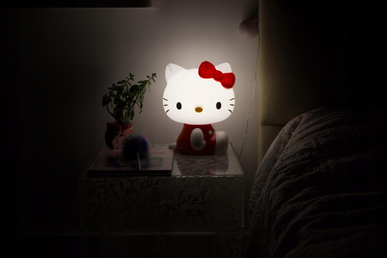 LAMPKA NOCNA DLA DZIECI HELLO KITTY ŚWIATŁO LED Płeć Chłopcy Dziewczynki
