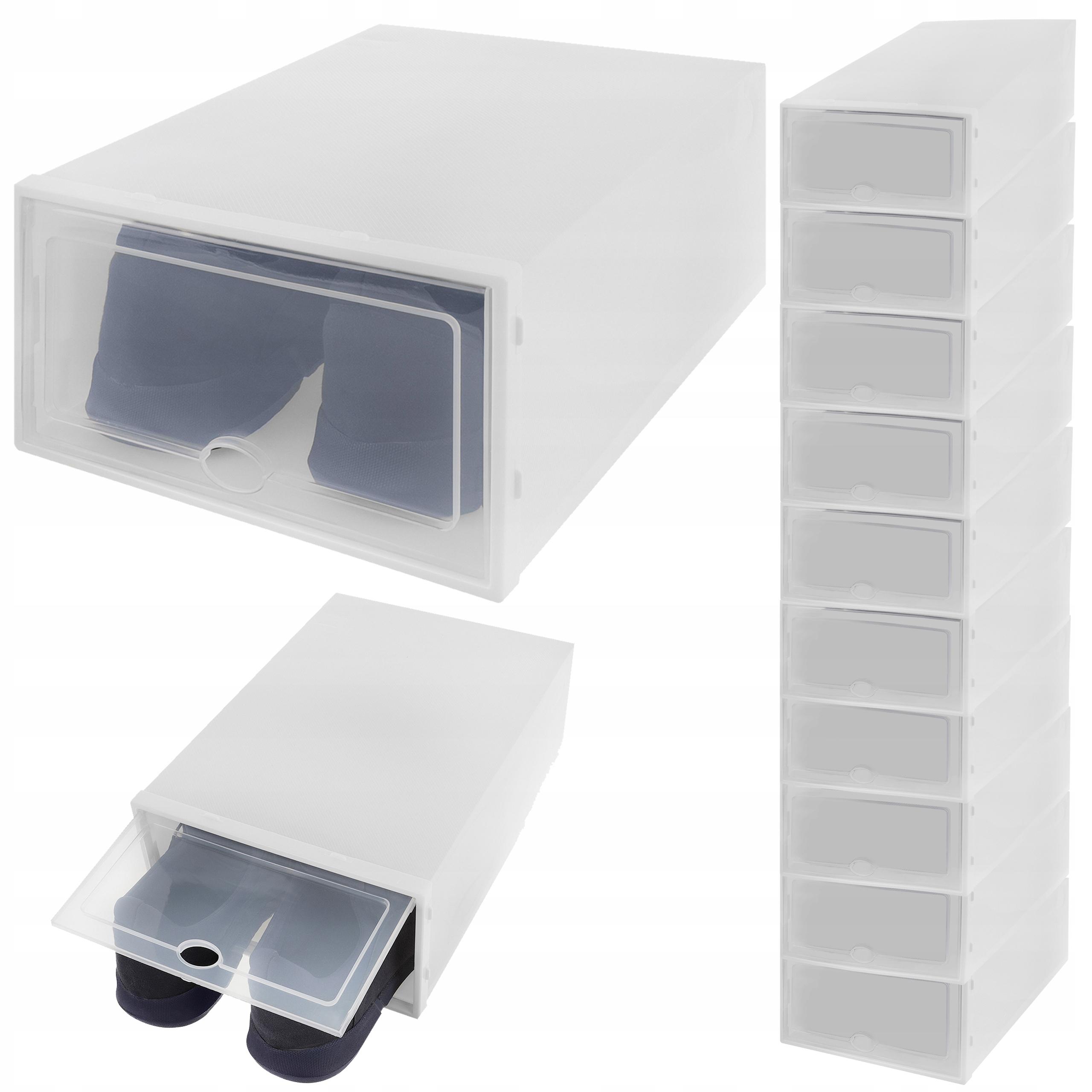 10 x Pudełko Pojemnik Organizer na Buty z Klapką
