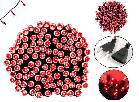 100 светодиодных красных новогодних гирлянд с программатором