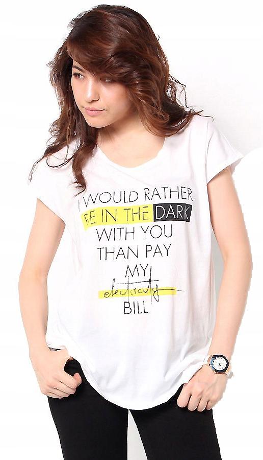 Guess koszulka t-shirt biała bawełna nadruk eko S