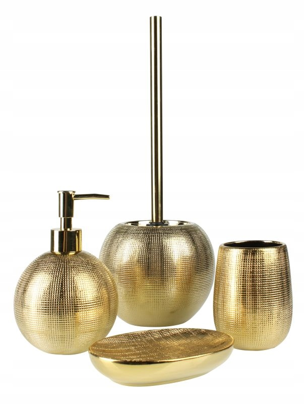 Kúpeľňová súprava Midas 4 prvky zlatá