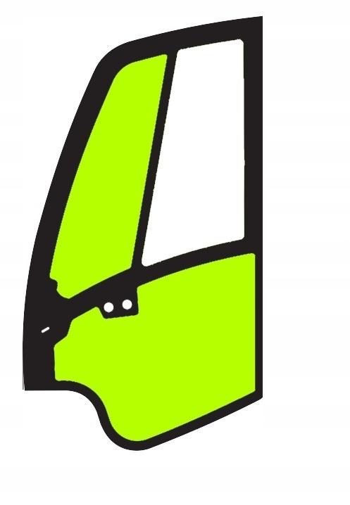 стекло левой двери для JCB 8080, 8085