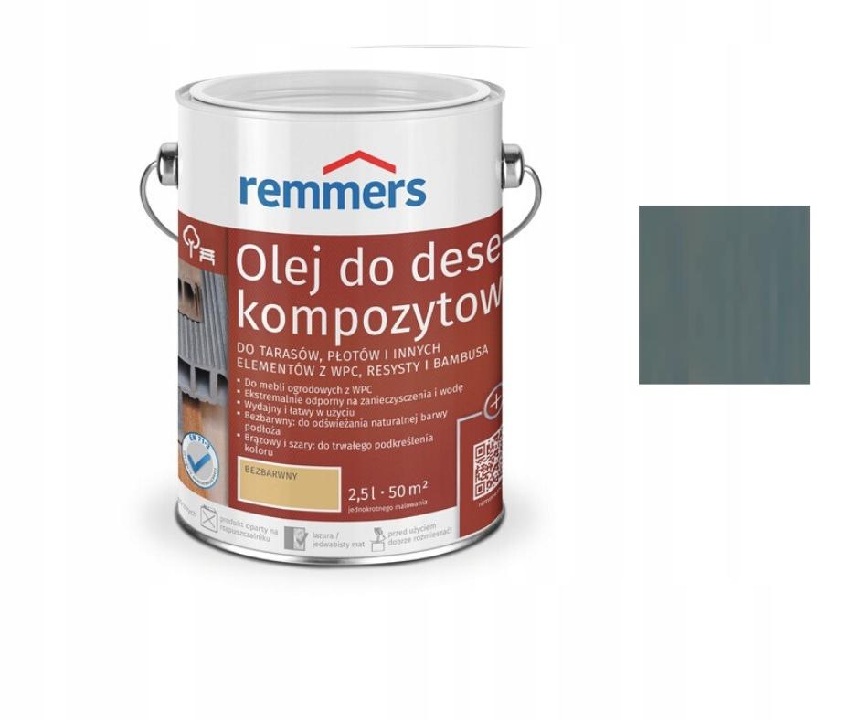 Remmers WPC масло для композита терраса 2,5 л СЕРЫЙ