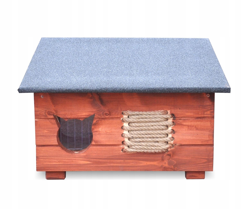 Drewniana budka dla kota,domek na zimę + drapak