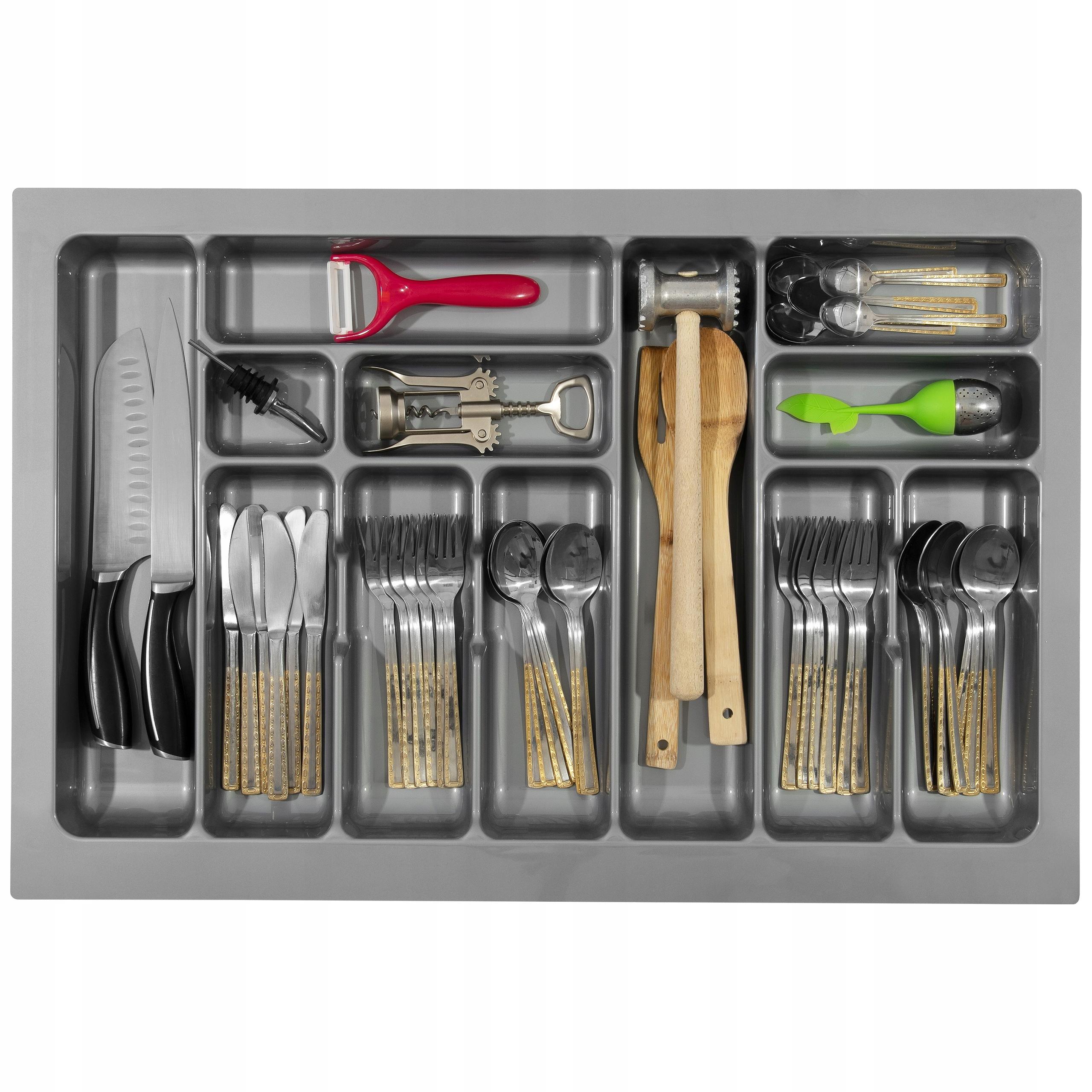 Вставка для столовых приборов в ящик Organizer 80 - серый