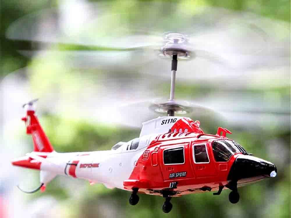 Helikopter Syma S111G sterowany na pilota RC0541 Materiał Metal Plastik