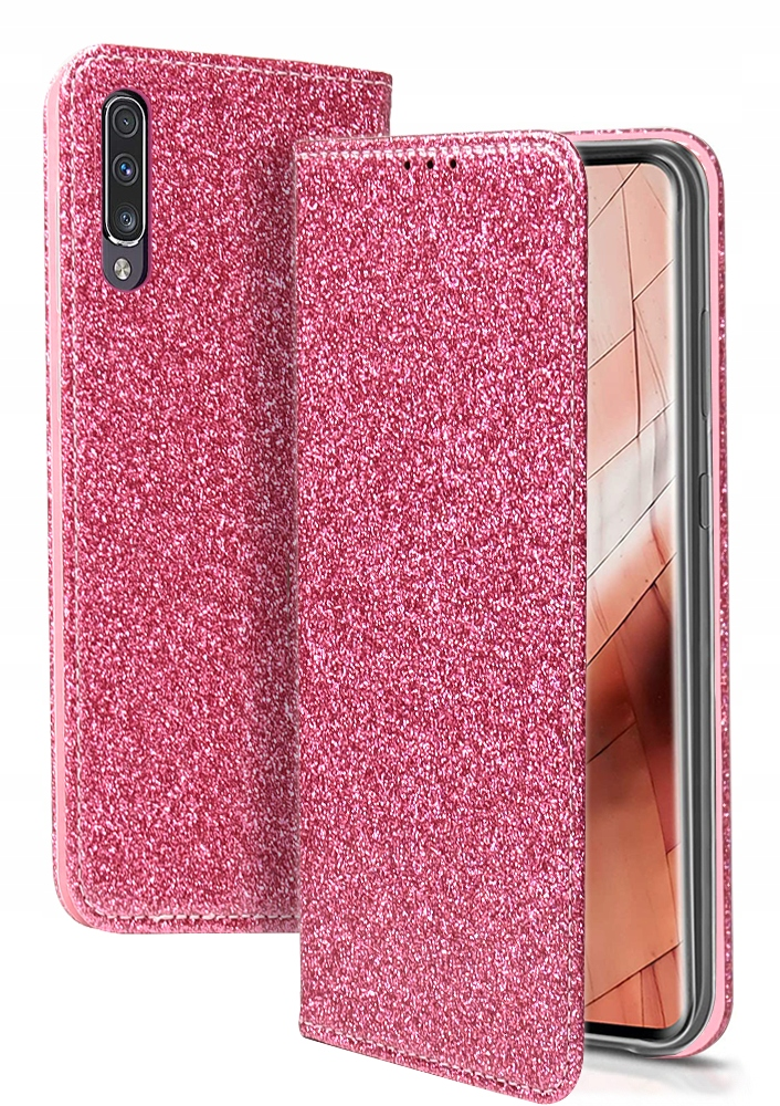 Etui Magnet Brokat + SZKŁO do Samsung Galaxy A50