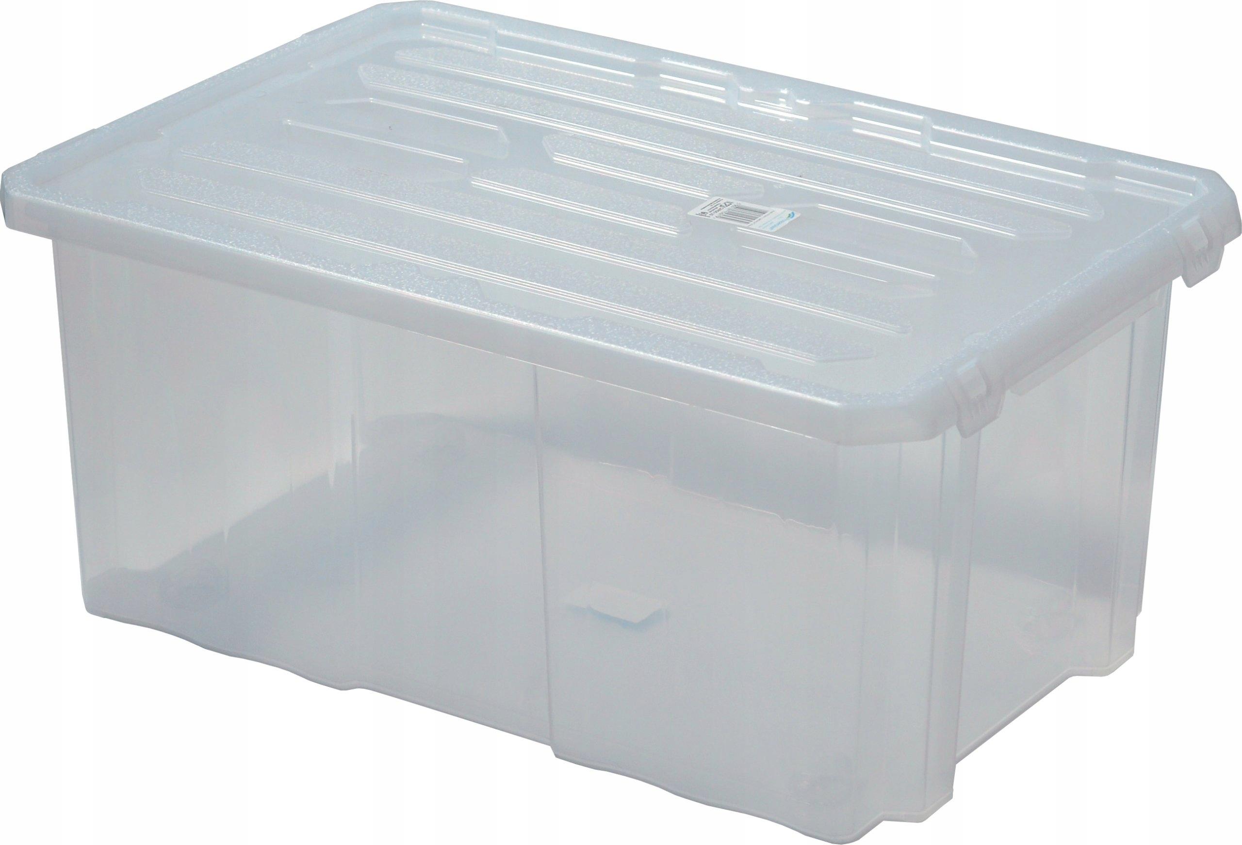 Pudełko Pudło Pokrywa Plastikowe Box 45l Duże 6970502874 Allegro Pl