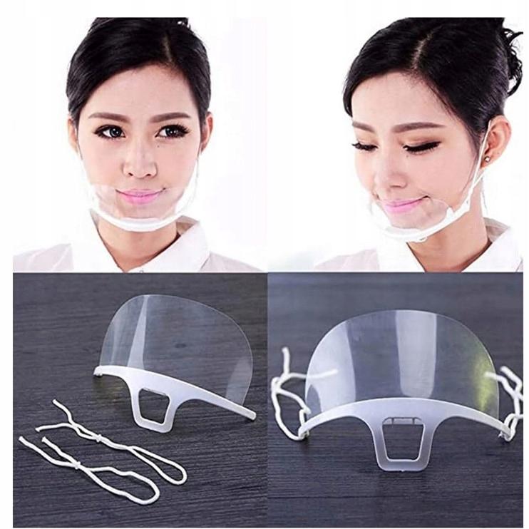 5 sztuk Maska ochronna mini Shield Przyłbica brodę