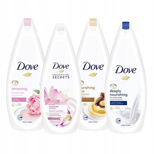 Dove Nourishing żel pod prysznic zestaw 4 x 750 ml