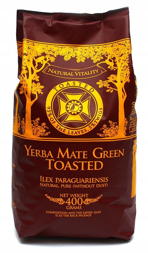 Yerba Mate Green TOASTED - деспалада 400 г 0,4 кг