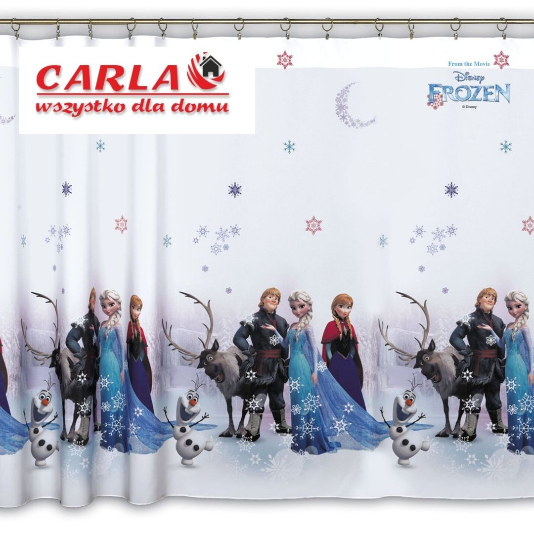 Záves pripravený na pásky Frozen. Frozen 150 x 145